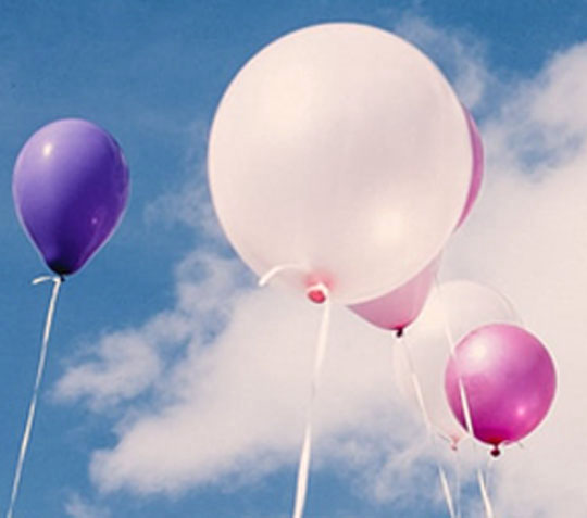 Balloons in a blue sky